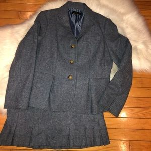 Talbots Blue Wool Skirt Suit 10/10p